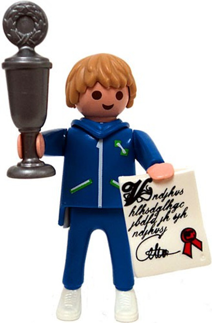 Playmobil Fi?ures Series 1 Blue Trophy Winner Minifigure [Loose]