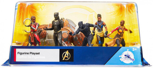 Disney Marvel Black Panther Exclusive 6-Piece PVC Figure Play Set