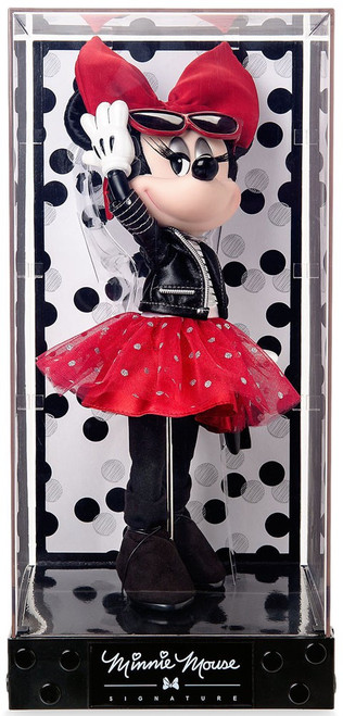 Disney Signature Minnie Mouse Exclusive 13-Inch Doll [Leather Jacket, Red Skirt]