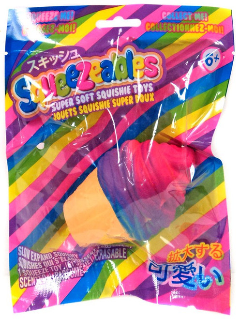 Squeezeables Multi-Colored Ice Cream Cone Squeeze Toy