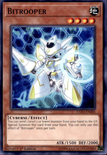 YuGiOh Extreme Force Common Bitrooper EXFO-EN005