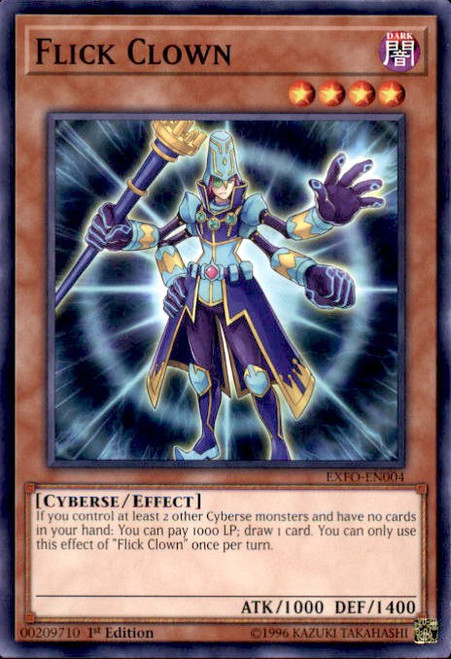 YuGiOh Extreme Force Common Flick Clown EXFO-EN004