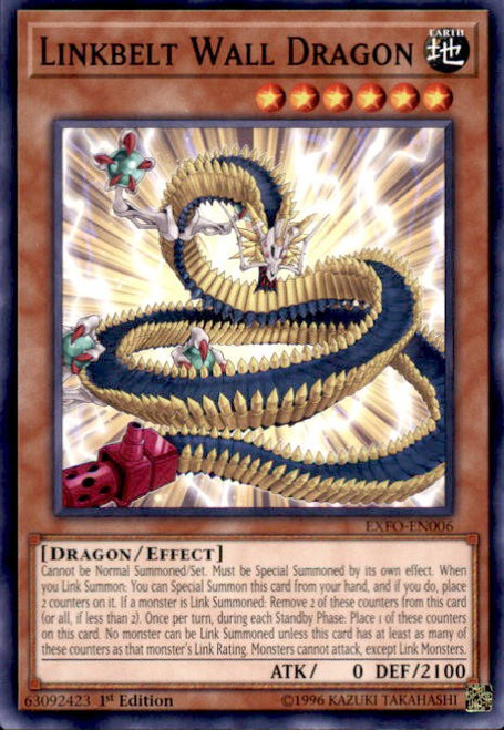 YuGiOh Extreme Force Common Linkbelt Wall Dragon EXFO-EN006