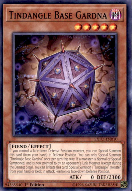YuGiOh Extreme Force Common Tindangle Base Gardna EXFO-EN010