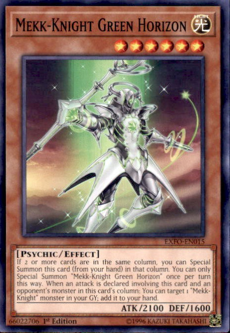 YuGiOh Extreme Force Common Mekk-Knight Green Horizon EXFO-EN015