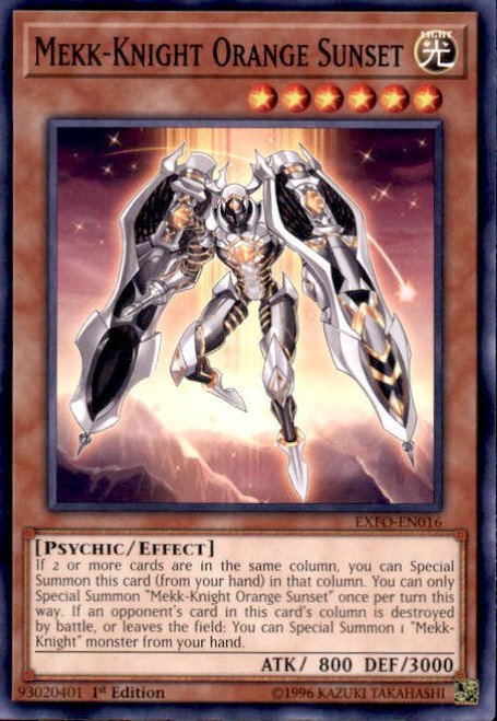 YuGiOh Extreme Force Common Mekk-Knight Orange Sunset EXFO-EN016