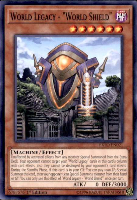 YuGiOh Extreme Force Common World Legacy - World Shield EXFO-EN021
