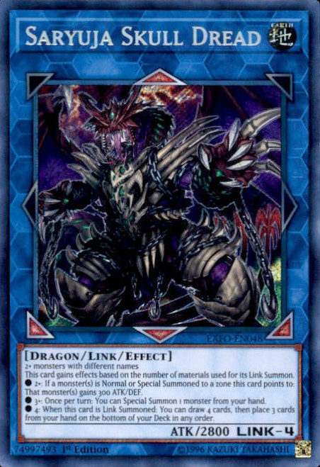 YuGiOh Extreme Force Secret Rare Saryuja Skull Dread EXFO-EN048