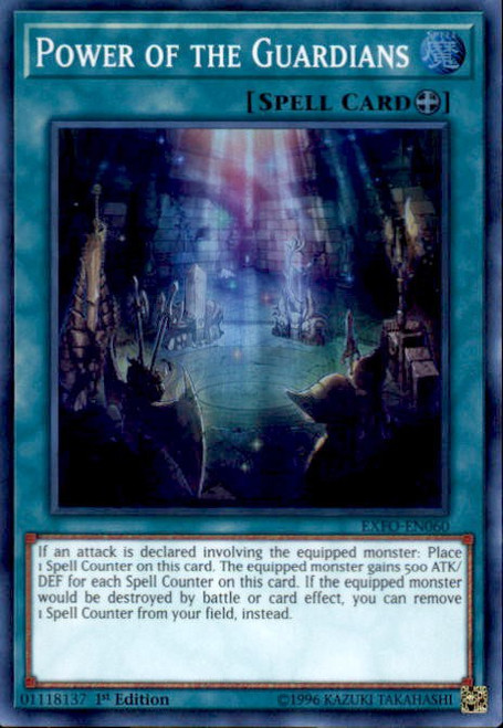 YuGiOh Extreme Force Super Rare Power of the Guardians EXFO-EN060