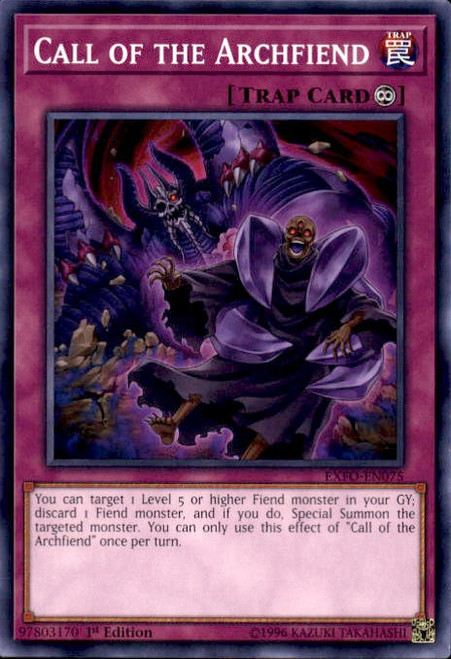 YuGiOh Extreme Force Common Call of the Archfiend EXFO-EN075