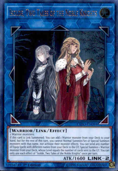 YuGiOh Extreme Force Ultra Rare Isolde, Two Tales of the Noble Knights EXFO-EN094