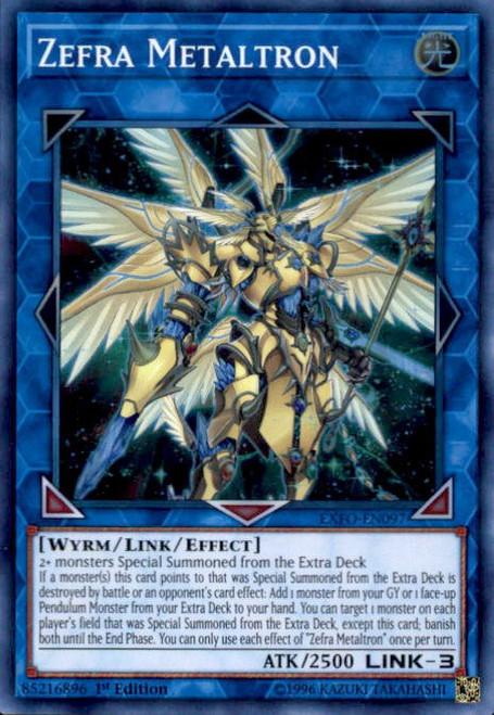 YuGiOh Extreme Force Super Rare Zefra Metaltron EXFO-EN097