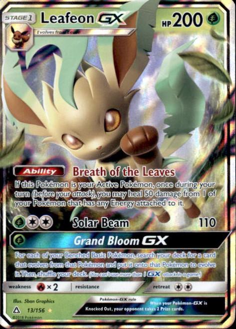 Pokemon Sun & Moon Ultra Prism Ultra Rare Leafeon GX #13