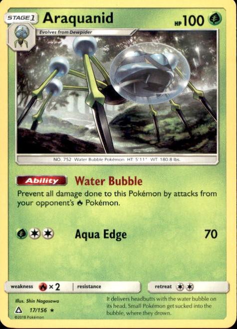 Pokemon Sun & Moon Ultra Prism Rare Araquanid #17