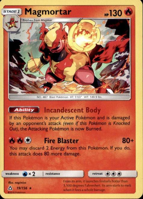 Pokemon Sun & Moon Ultra Prism Rare Holo Magmortar #19