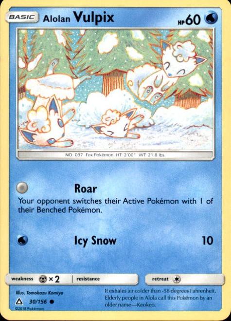 Pokemon Sun & Moon Ultra Prism Common Alolan Vulpix #30