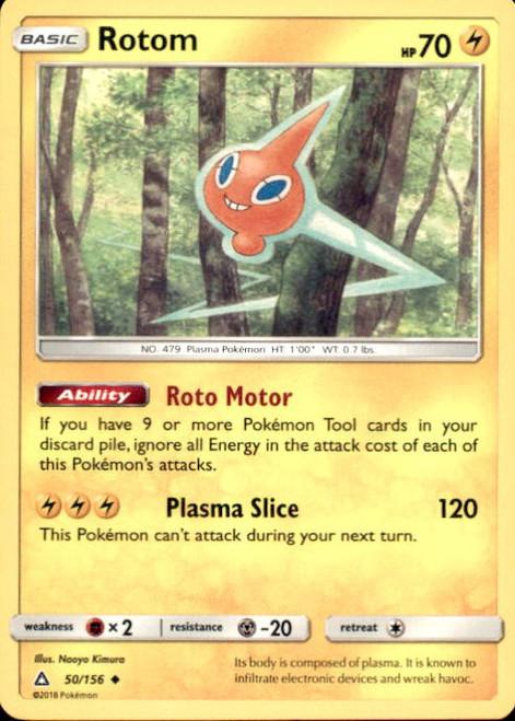 Pokemon Sun & Moon Ultra Prism Uncommon Rotom #50