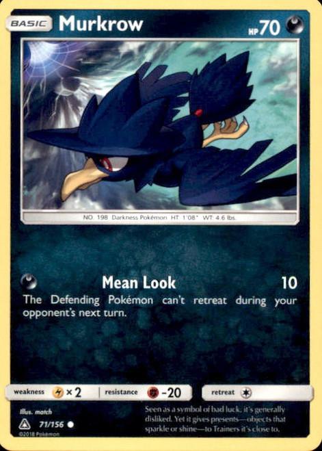 Pokemon Sun & Moon Ultra Prism Common Murkrow #71