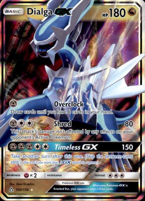Pokemon Sun & Moon Ultra Prism Ultra Rare Dialga GX #100