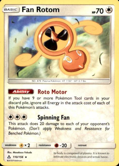 Pokemon Sun & Moon Ultra Prism Rare Fan Rotom #110