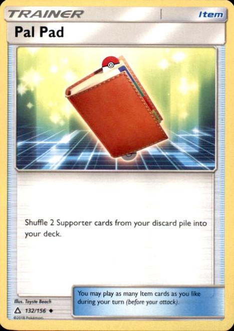Pokemon Sun & Moon Ultra Prism Uncommon Pal Pad #132