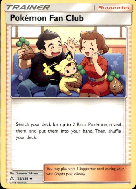 Pokemon Sun & Moon Ultra Prism Uncommon Pokémon Fan Club #133