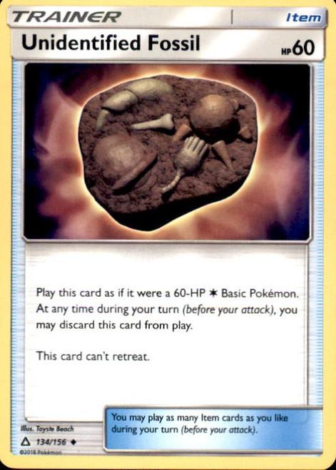 Pokemon Sun & Moon Ultra Prism Uncommon Unidentified Fossil #134