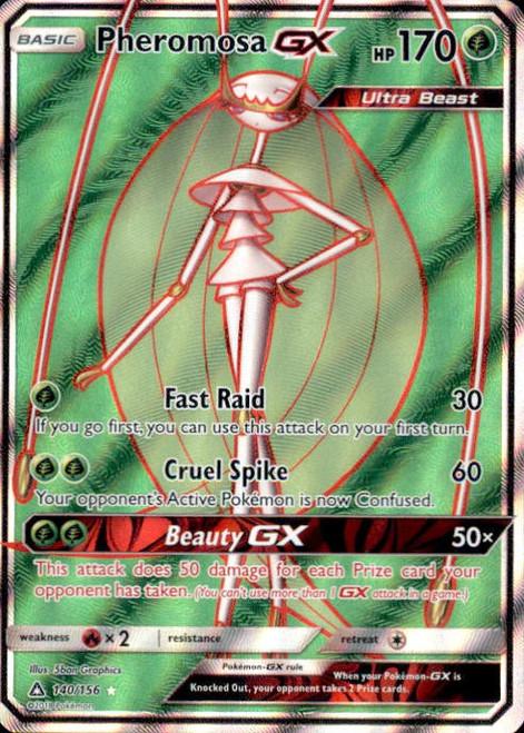 Pokemon Sun & Moon Ultra Prism Ultra Rare Full Art Pheromosa GX #140