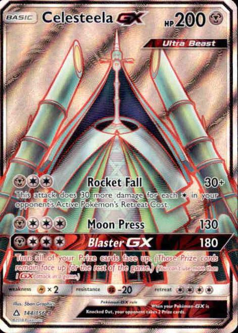 Pokemon Sun & Moon Ultra Prism Ultra Rare Full Art Celesteela GX #144