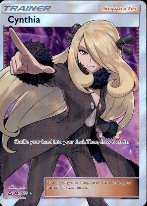 Pokemon Sun & Moon Ultra Prism Ultra Rare Full Art Cynthia #148