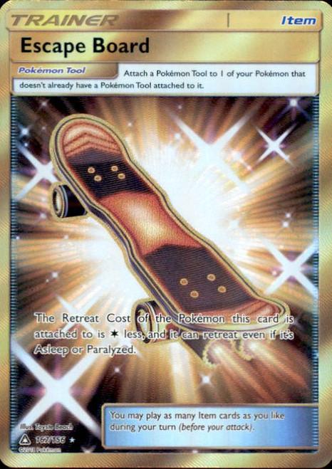 Pokemon Sun & Moon Ultra Prism Secret Rare Escape Board #167
