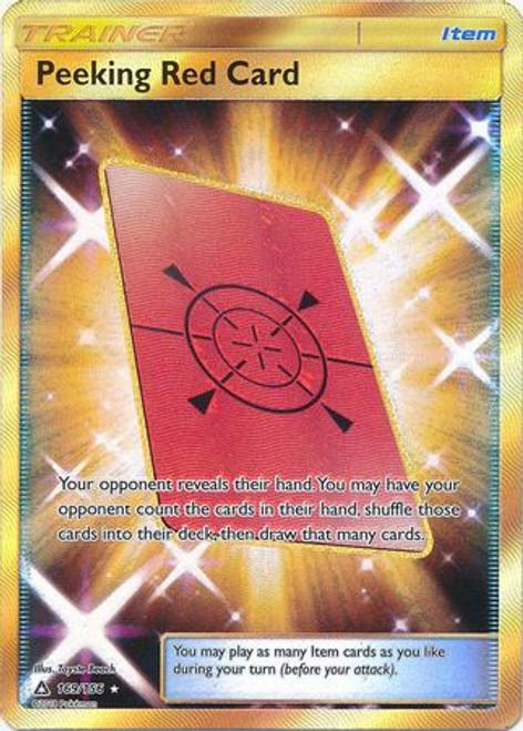 Pokemon Sun & Moon Ultra Prism Secret Rare Peeking Red Card #169