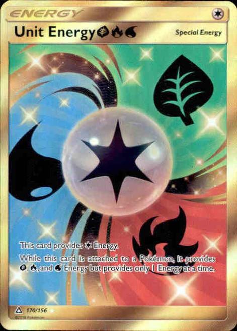 Pokemon Sun & Moon Ultra Prism Secret Rare Unit Energy GFW #170