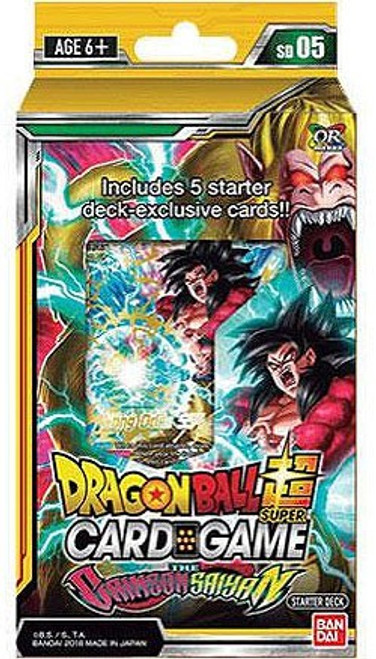 Dragon Ball Super Collectible Card Game Series 4 Crimson Saiyan Starter Deck DBS-SD05 [Yellow]