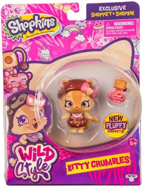 Shopkins Shoppets Season 9 Wild Style Kitty Crumbles Doll Figure