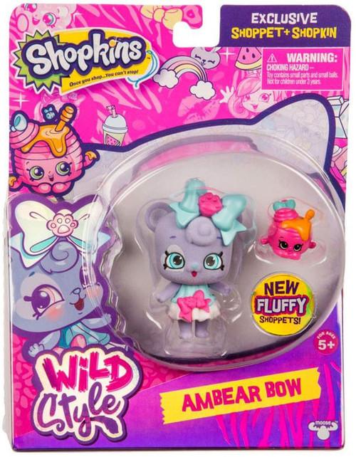 Shopkins Shoppets Season 9 Wild Style Ambear Bow Doll Figure