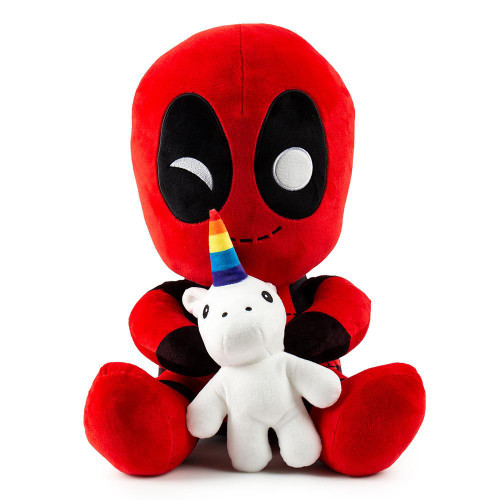 Marvel Phunny Deadpool with Unicorn 16-Inch Plush [HugMe, Vibrates!]