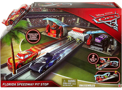 Disney / Pixar Cars Cars 3 Florida Speedway Pit Stop Playset
