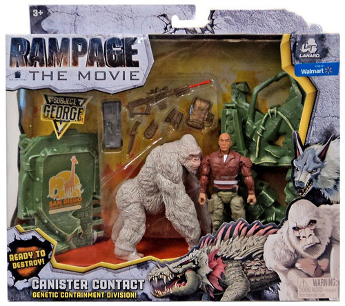 Rampage The Movie Canister Contact George Exclusive Figure Set