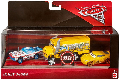 Disney / Pixar Cars Cars 3 Derby Diecast Car 3-Pack [Miss Fritter, Cigalert & Cruz Ramirez as Frances Beltline]