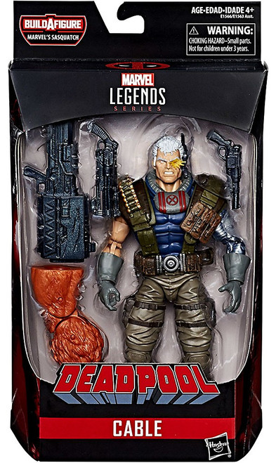 Deadpool Marvel Legends Sasquatch Series Cable Action Figure