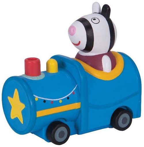 Peppa Pig Mini Buggy Zoe Zebra in Train Vehicle