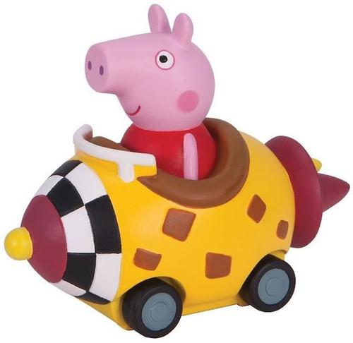 Peppa Pig Mini Buggy Peppa in Yellow Rocket Vehicle