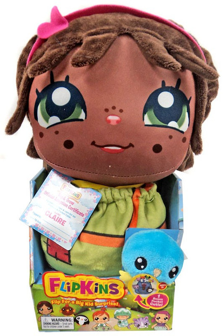 Flipkins Pocket Cuties Claire 8-Inch Plush Doll