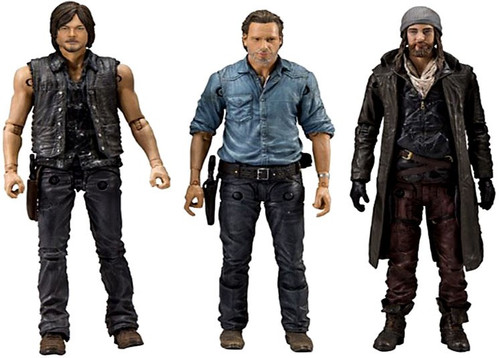 McFarlane Toys The Walking Dead AMC TV Rick Grimes, Daryl Dixon & Jesus Action Figure 3-Pack [Allies]