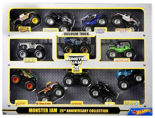 Hot Wheels Monster Jam 25 Anniversary Collection Diecast Car 12-Pack