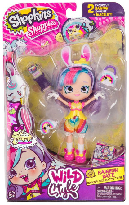 Shopkins Shoppies Season 9 Wild Style Rainbow Kate Doll Figure