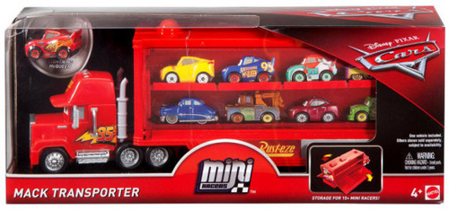 Disney / Pixar Cars Cars Mini Racers Mack Transporter Carry Case