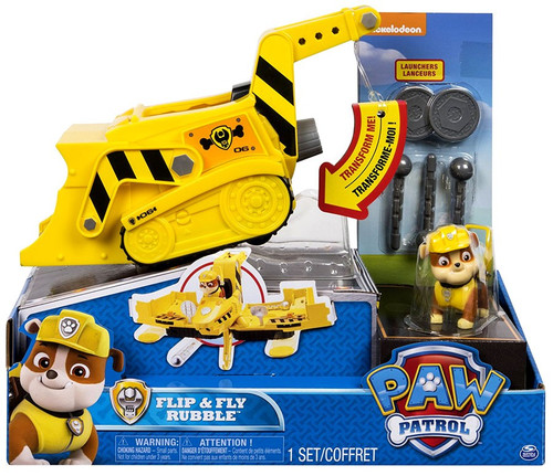 Paw Patrol Flip & Fly Rubble Vehicle & Figure
