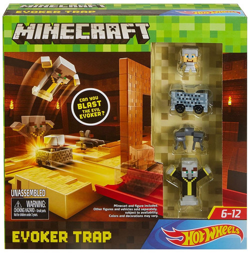 Minecraft Hot Wheels Evoker Trap Track Set